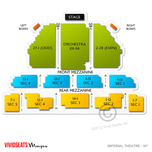 imperial theater nyc seating chart