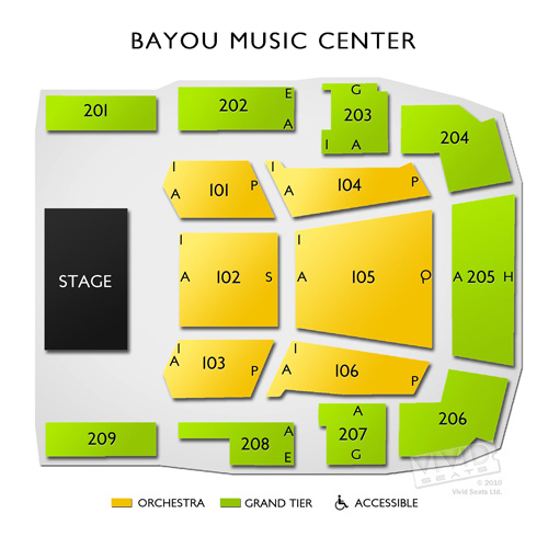 Bayou Music Center Seating Chart Car Interior Design