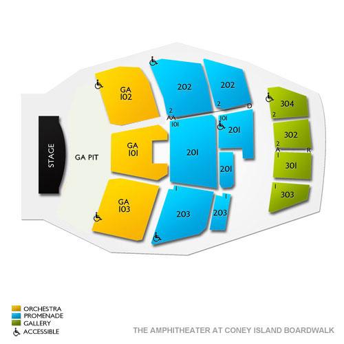 Coney Island Amphitheater Seat View