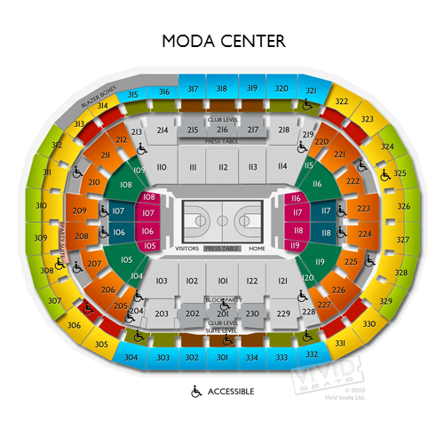 Moda Center Tickets Moda Center Seating Chart Vivid Seats
