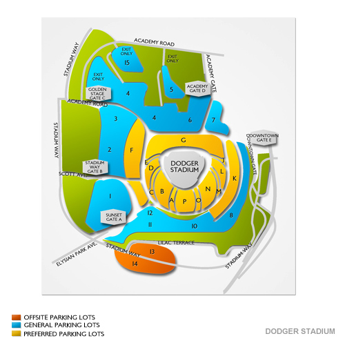 Dodger Stadium Parking - Dodger Stadium Parking Map | Vivid Seats