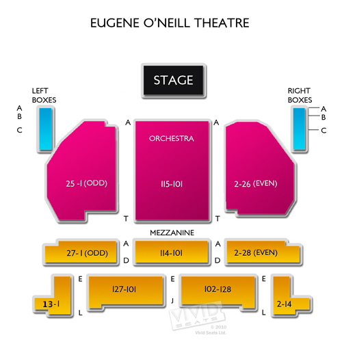 Eugene o neill theatre a seating guide for the broadway theater