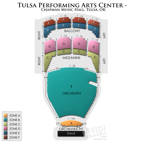 Performing Arts Center Tulsa Seating Chart Tulsa Performing Arts Center