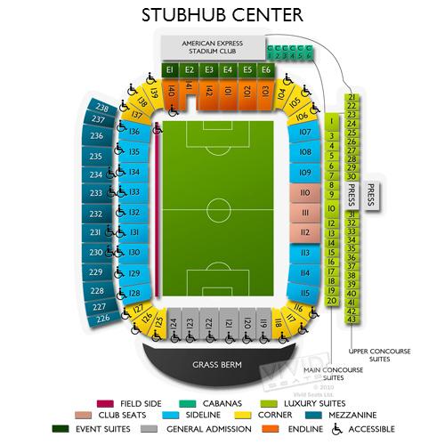 Stubhub Center Tickets Stubhub Center Seating Chart