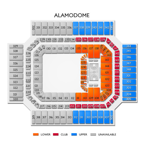 San Antonio Alamodome SeatingChart