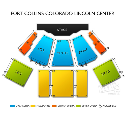 Fort Collins Colorado Lincoln Center Seating Chart Vivid