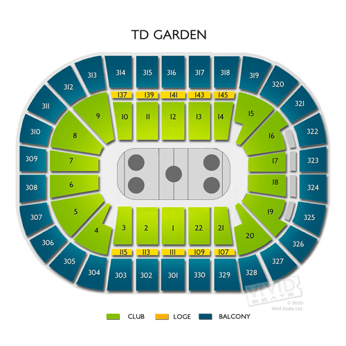 High Quality TD Garden Concert Seating Views