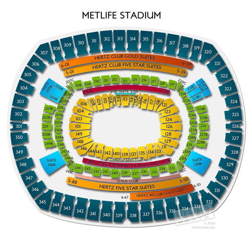 Metlife stadium concerts seating guide for the multi purpose venue