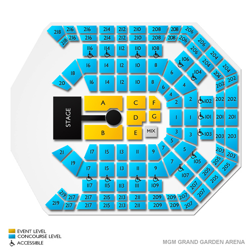 Mgm grand garden arena seating guide for las vegas events vivid seats