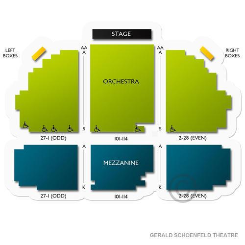 Gerald schoenfeld theatre a guide for seating at the broadway