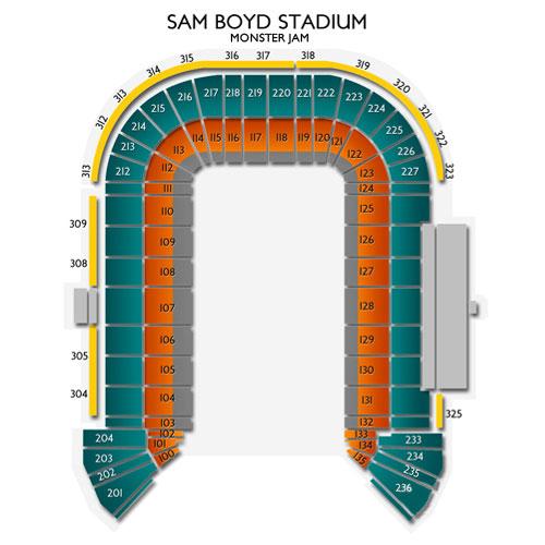 Sam boyd stadium club seating chart sam boyd stadium seating