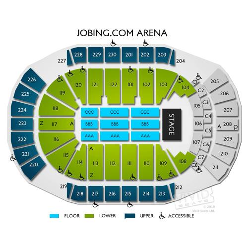 Gila River Arena Seating Chart