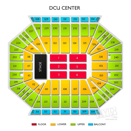 Dcu Center Tickets Dcu Center Seating Chart Vivid Seats