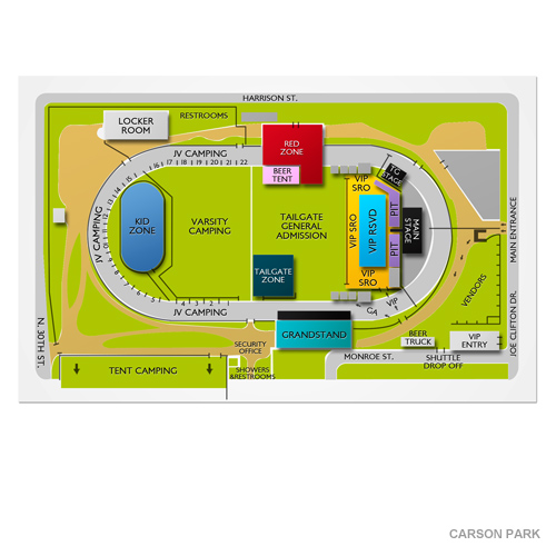 static map of venue