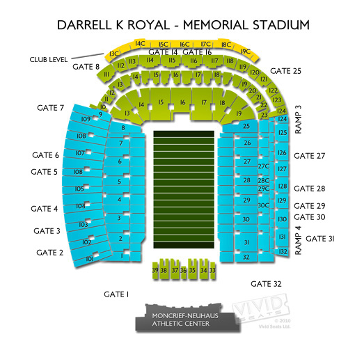 darrell k royal stadium chart: Texas vs usc football tickets 9 15 18 vivid seats