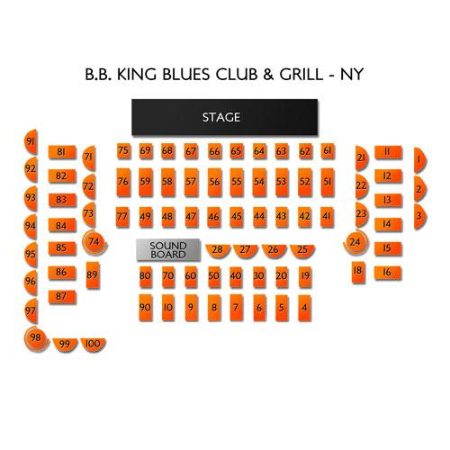 BB King Blues Club and Grill NY Seating Chart | Vivid Seats