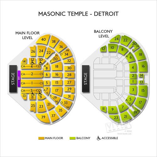 Masonic temple theatre detroit mi seating chart stage