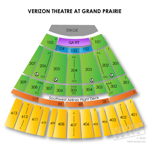 Verizon Theatre At Grand Prairie Tickets 226 Verizon