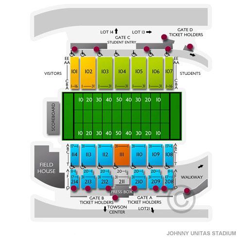 Villanova Wildcats At Towson Tigers Football Tickets 9212019