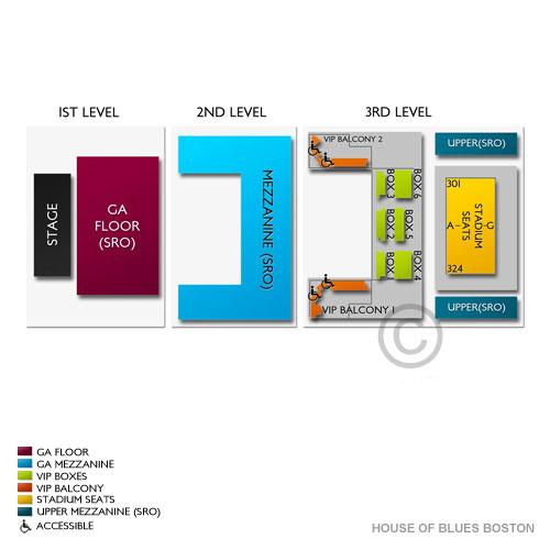 Greta Van Fleet Boston Tickets 7242018 – House Of Blues Boston Floor Plan
