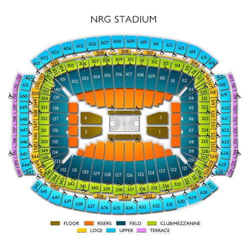 Nrg stadium concerts a seating guide for live music in houston