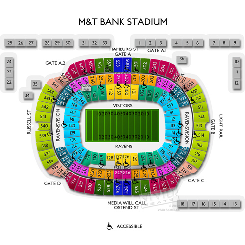 M Amp T Bank Stadium Event Tickets Seating Charts