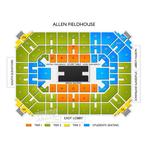 Allen Fieldhouse Tickets - Allen Fieldhouse Seating Chart