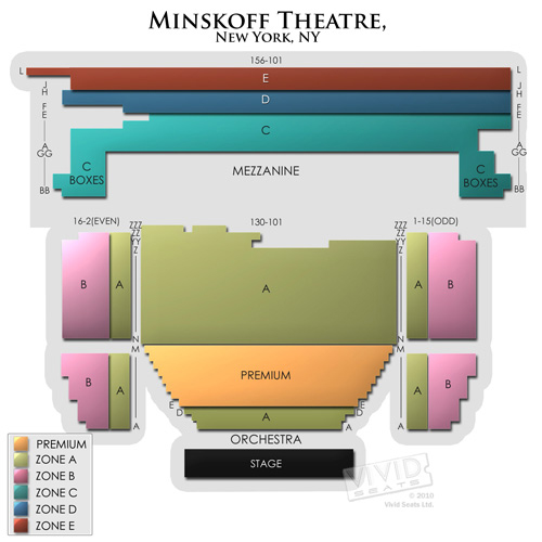 Minskoff Theatre Concert Tickets And Seating View Vivid Seats