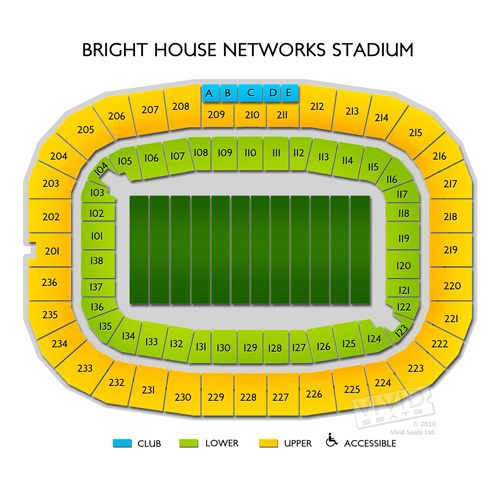 Bright house networks stadium seating chart vivid seats for Right house