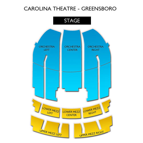 Carolina theater greensboro nc seating chart stage