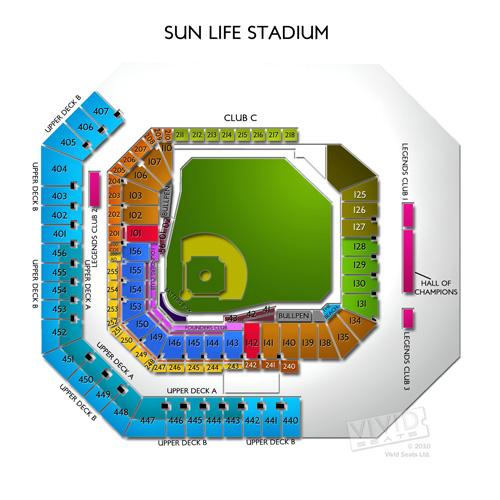 hard rock stadium tickets - hard rock stadium seating