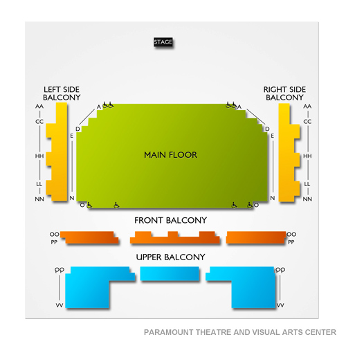 Paramount Theater St Cloud Mn Seating Chart Stage