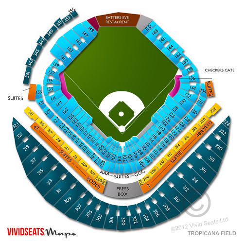 Tropicana Field Seating Chart And Tickets Event Information