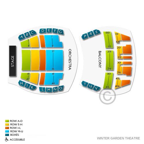 Winter Garden Theatre Toronto Seating Chart Vivid Seats
