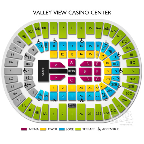 Valley view casino center event parking