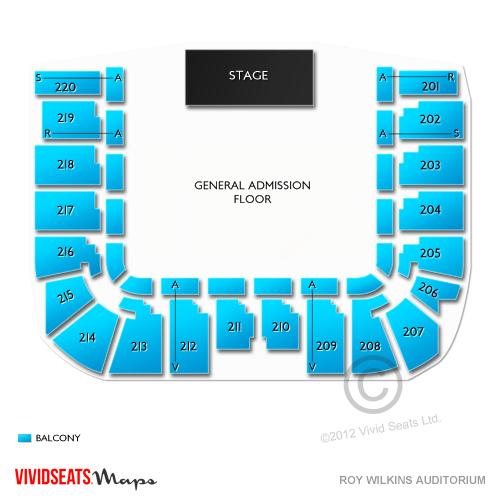 Roy Wilkins Auditorium Seating Chart Vivid Seats