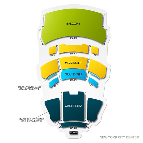 New york city center mainstage new york ny seating chart stage