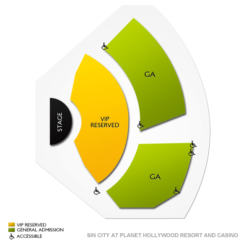 sin city at planet hollywood resort and casino seating chart vivid seats. Black Bedroom Furniture Sets. Home Design Ideas