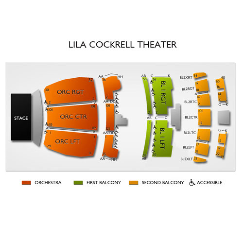 Lila Cockrell Theatre Seating Chart Vivid Seats