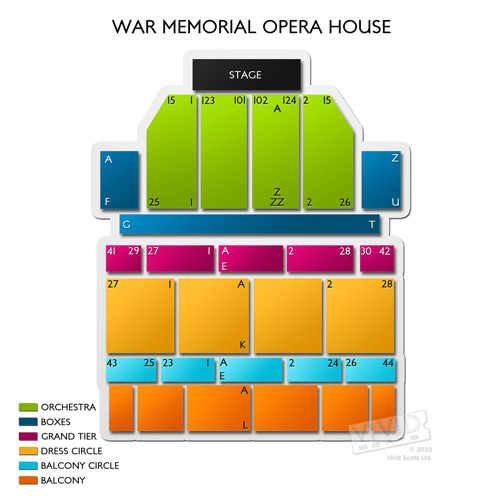San Francisco Opera Roberto Devereux San Francisco Tickets 914 – War Memorial Opera House Seating Plan