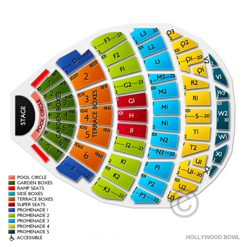 Hollywood bowl tickets hollywood bowl seating chart for Terrace 2 hollywood bowl