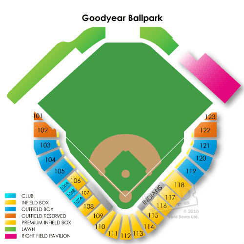 ... Goodyear Ballpark Information – Goodyear Ballpark Seating Chart