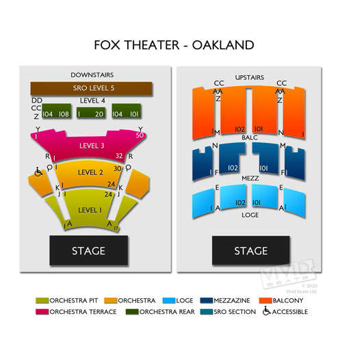 Fox Theater Oakland Seating Chart Cabinets Matttroy