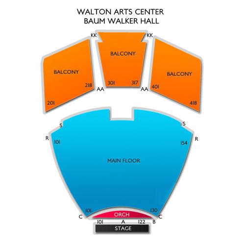Walton Arts Center Baum Walker Hall Seating Chart