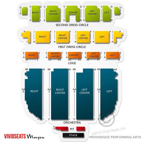 Providence Performing Arts Center Seating Chart Vivid Seats