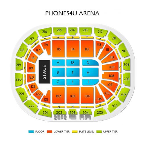 Manchester Arena Seating Chart  Vivid Seats