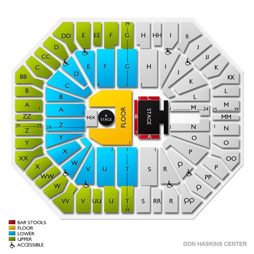 Don haskins center el paso tx seating chart stage el paso