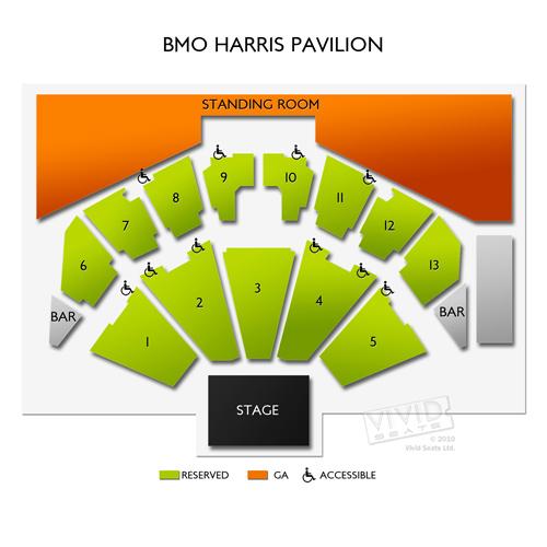 Image Result For Bmo Harris Pavilion Seat Map