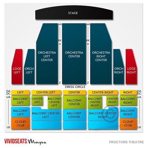 Proctors Theatre Seating Chart Vivid Seats