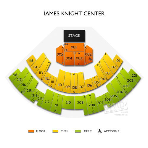 James Knight Center Seating Chart Vivid Seats